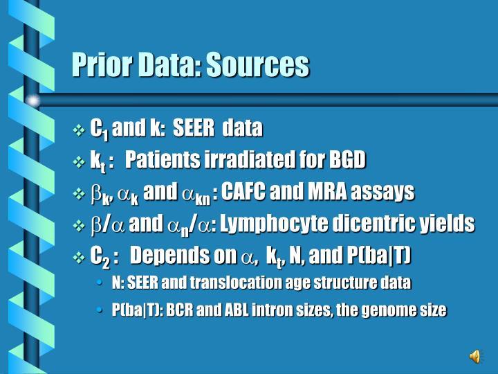 Prior Data: Sources