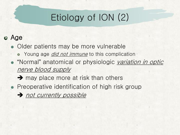 Etiology of ION (2)
