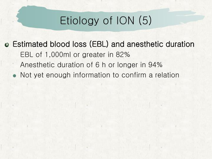 Etiology of ION (5)