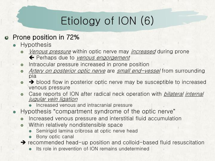 Etiology of ION (6)