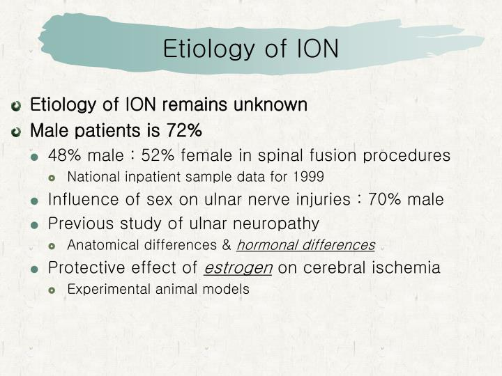 Etiology of ION
