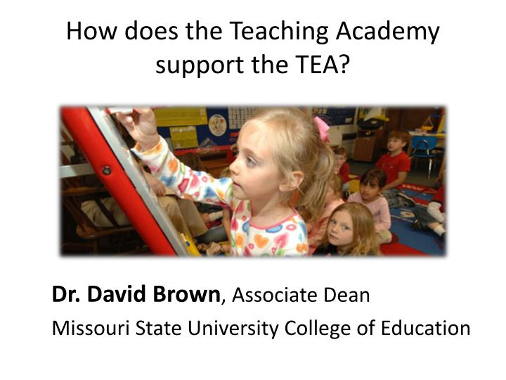 How does the Teaching Academy support the TEA?