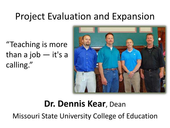 Project Evaluation and Expansion