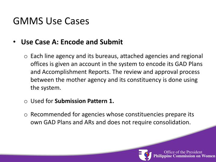 GMMS Use Cases