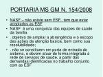 portaria ms gm n 154 2008