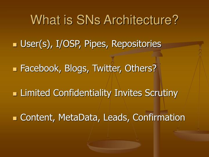 What is SNs Architecture?