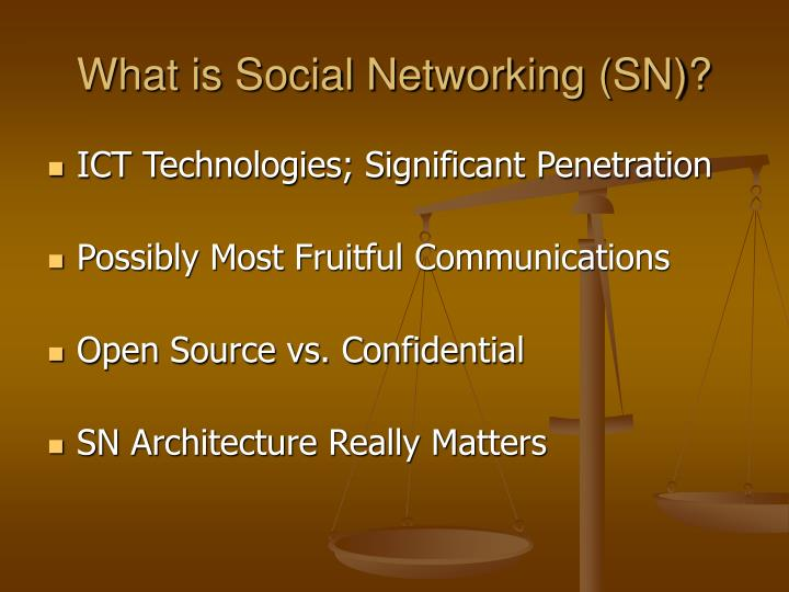 What is Social Networking (SN)?
