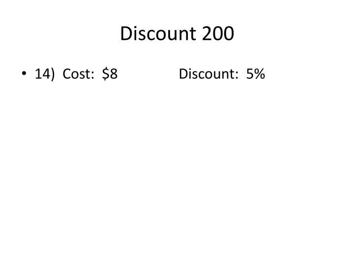 Discount 200