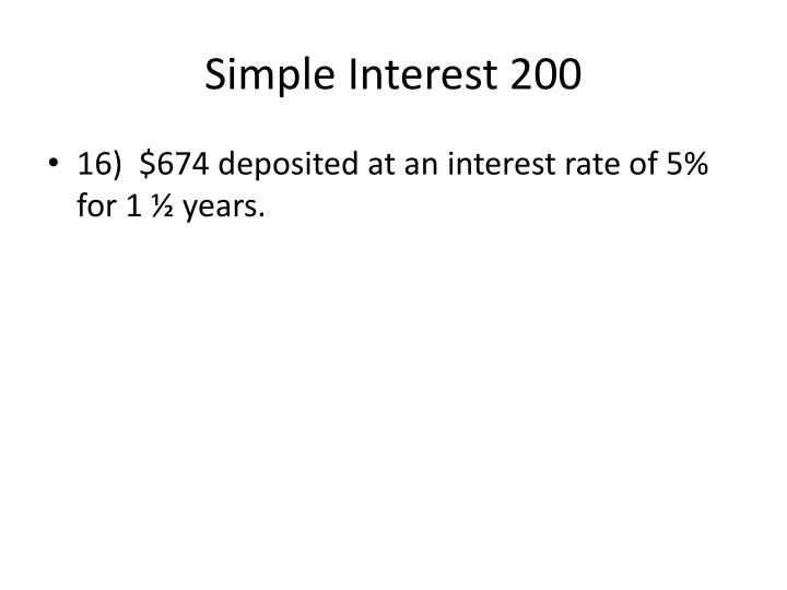 Simple Interest 200