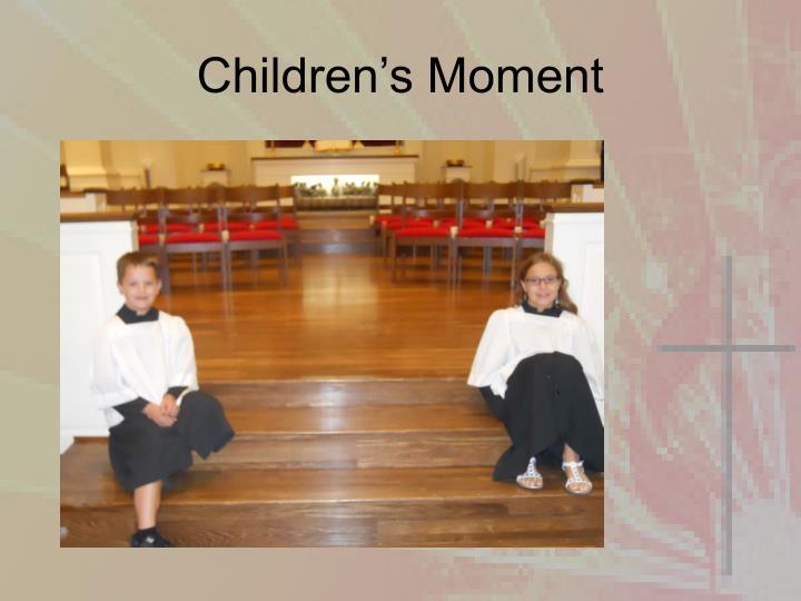 Children's Moment