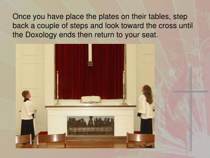 Once you have place the plates on their