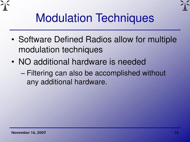 Modulation Techniques