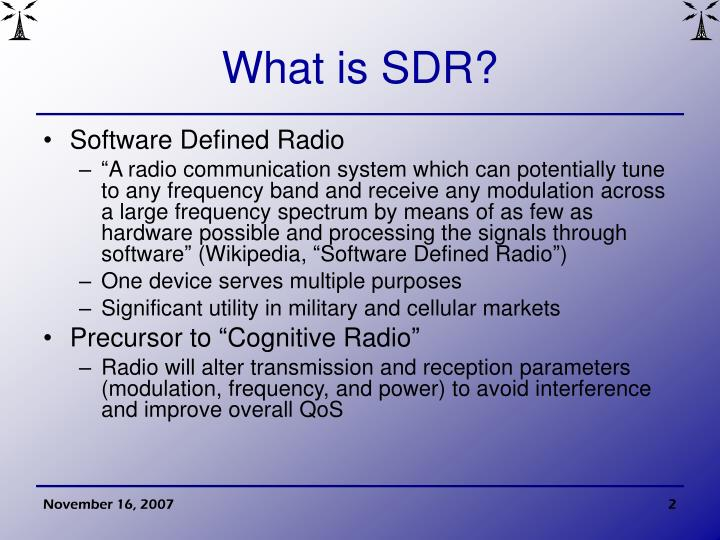What is sdr