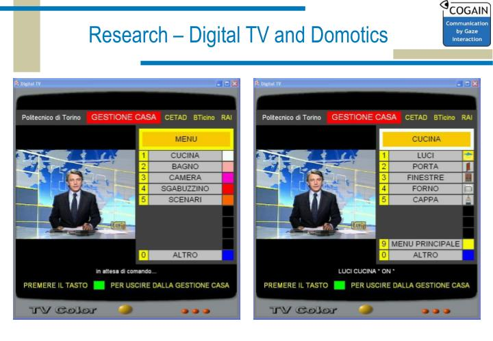 Research – Digital TV and Domotics