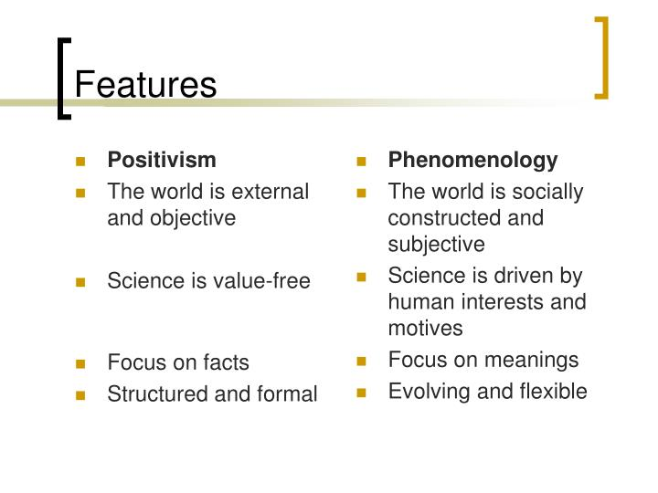 positivism and phenomenology in research