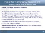 public health emergency response and international travel measures