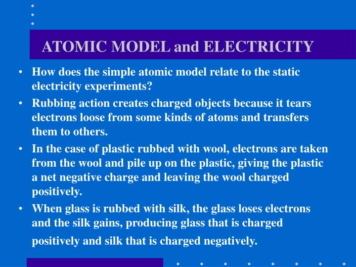 ATOMIC MODEL and ELECTRICITY