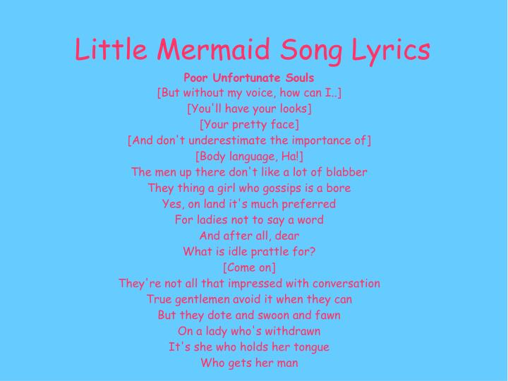 little mermaid lyrics - 720×540