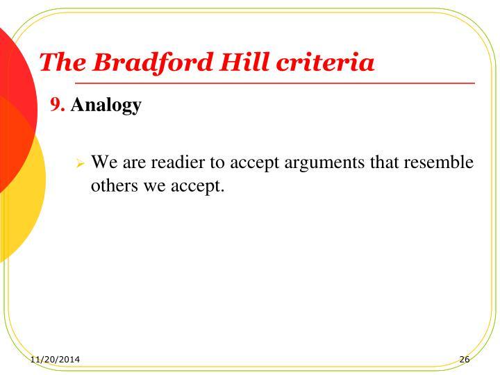The Bradford Hill criteria