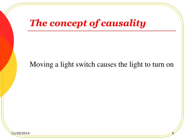 The concept of causality
