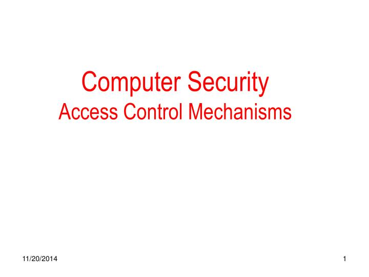computer security access control mechanisms n.