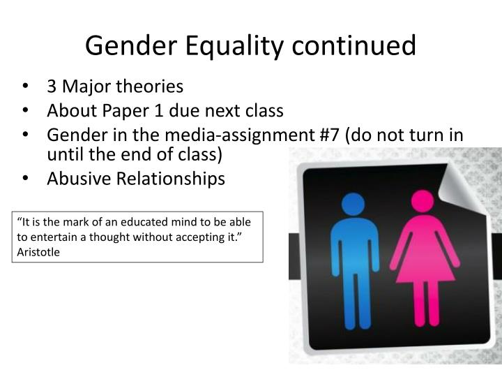 Gender inequality research paper in apa style