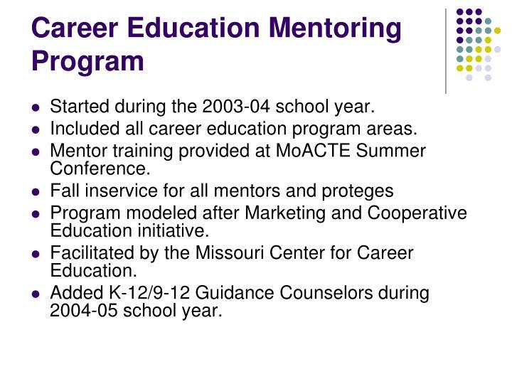 Career Education Mentoring Program