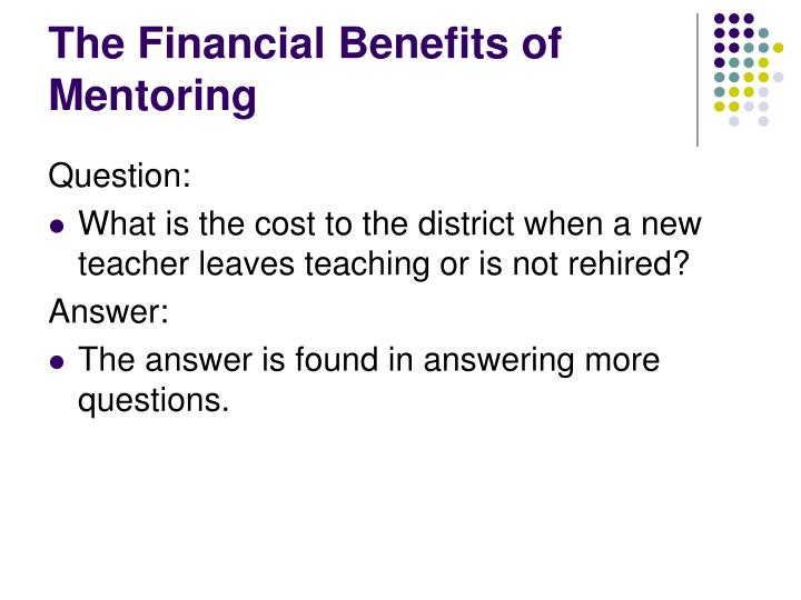 The Financial Benefits of Mentoring