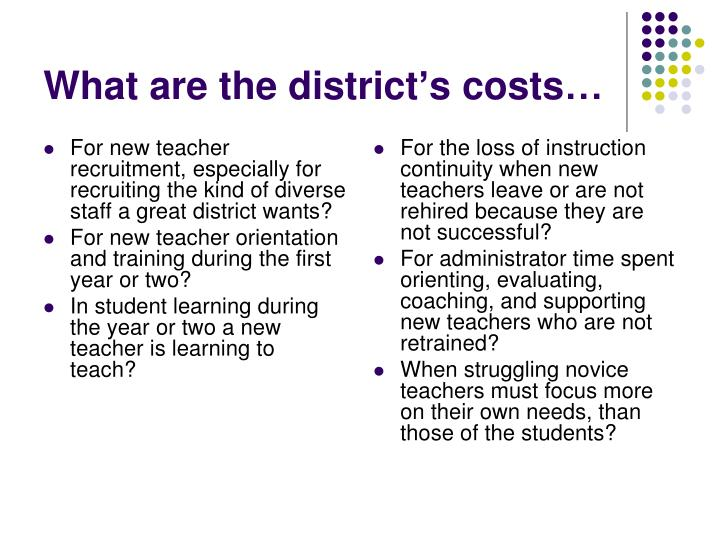 For new teacher recruitment, especially for recruiting the kind of diverse staff a great district wants?
