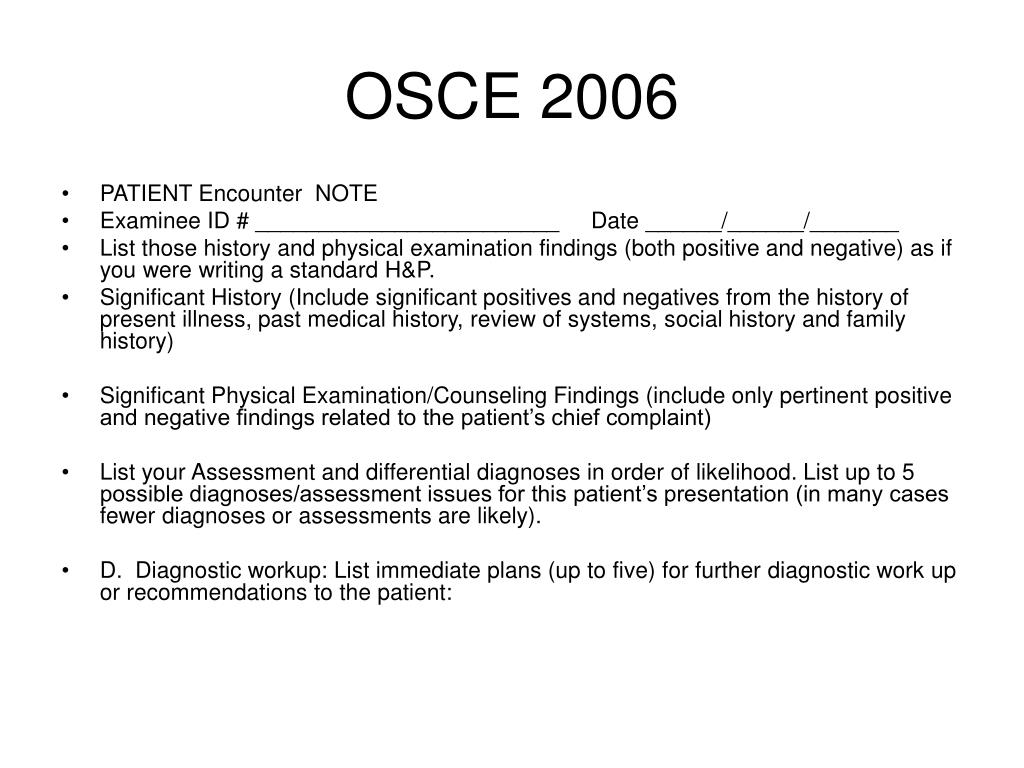 PPT - OSCE 2006 PowerPoint Presentation - ID:6896416