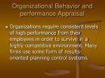organizational behavior and performance appraisal