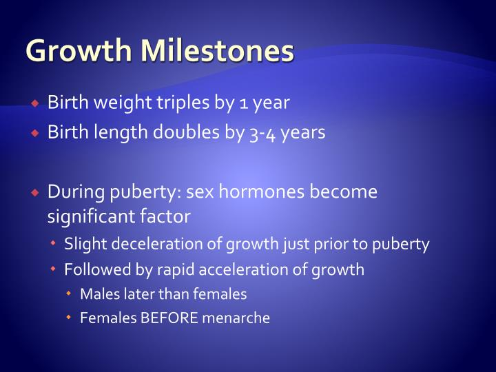 Growth Milestones