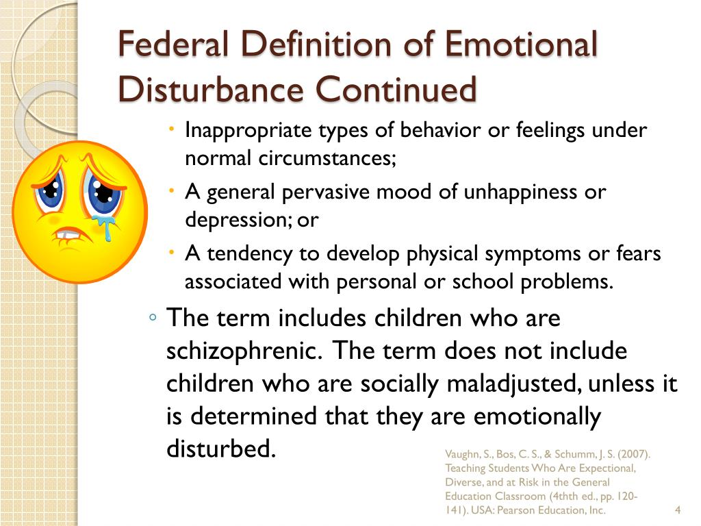 Emotionally Disturbed Students At >> Ppt Emotional And Behavioral Disorders In Children