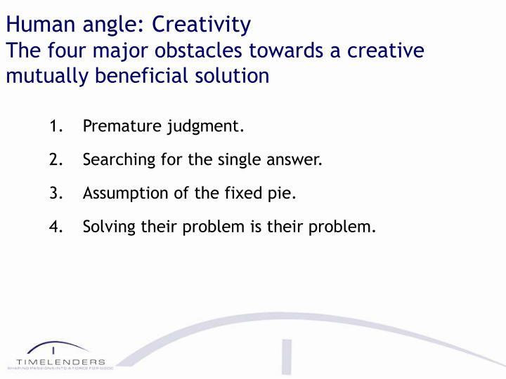 Human angle: Creativity
