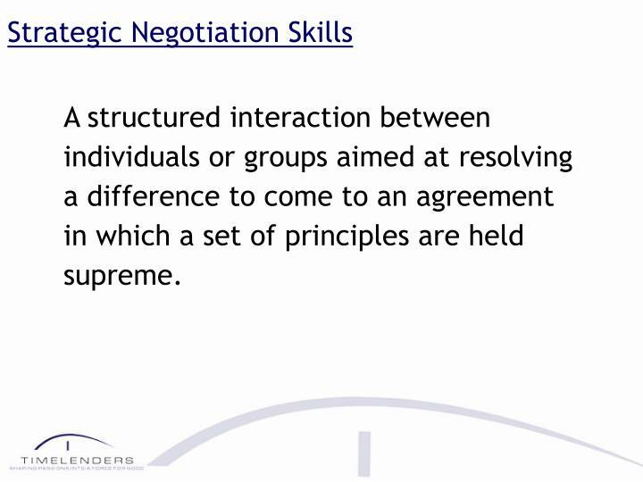 Strategic Negotiation Skills