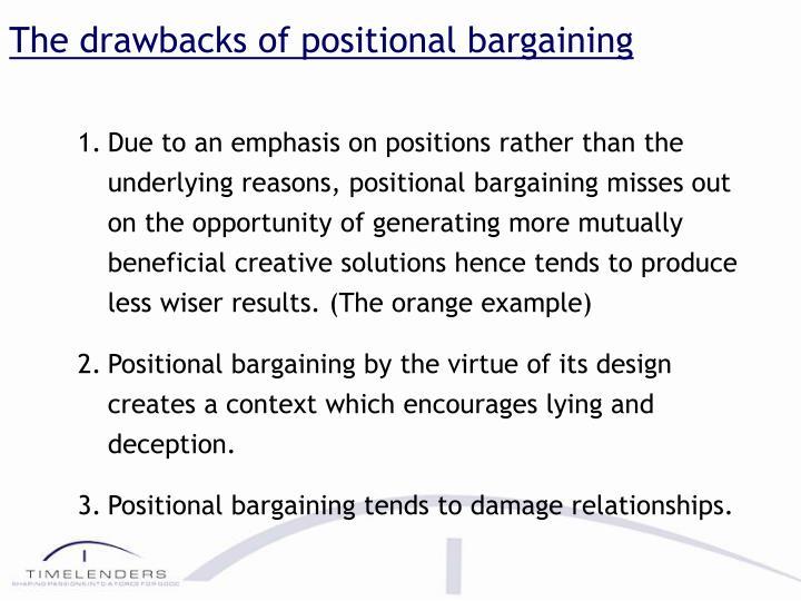 The drawbacks of positional bargaining