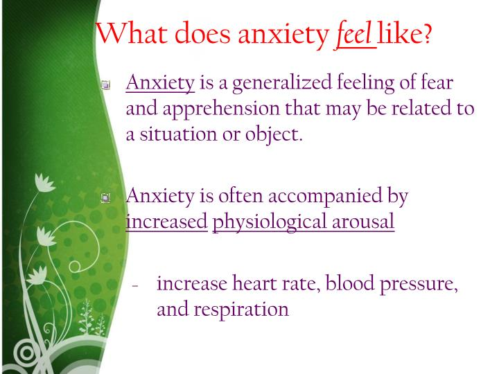 What does anxiety