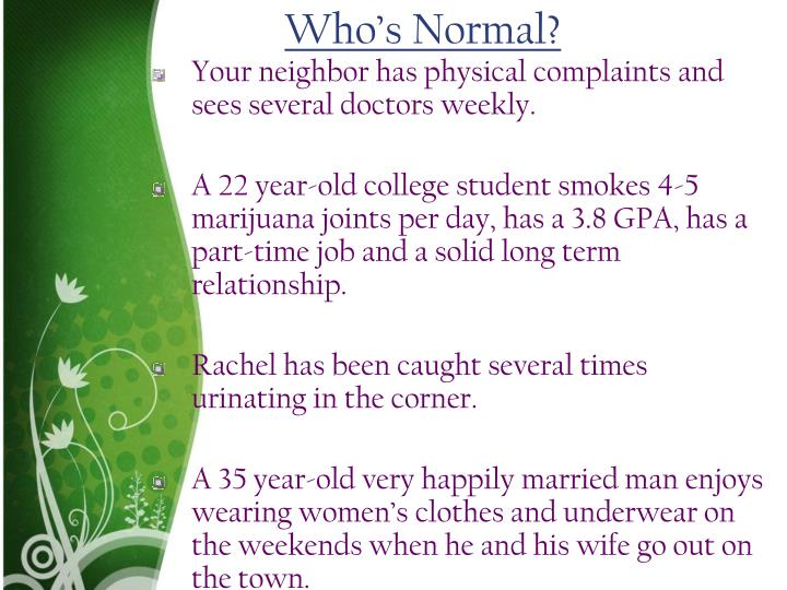 Who's Normal?