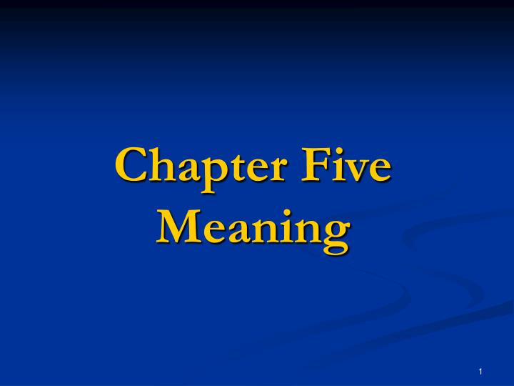 chapter five meaning n.