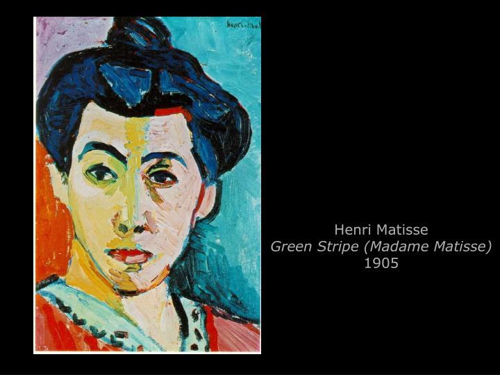 Henri matisse green stripe madame matisse 1905