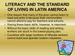 literacy and the standard of living in latin america1