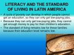 literacy and the standard of living in latin america2