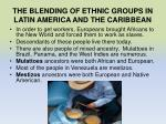 the blending of ethnic groups in latin america and the caribbean1