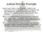 judicial activism example