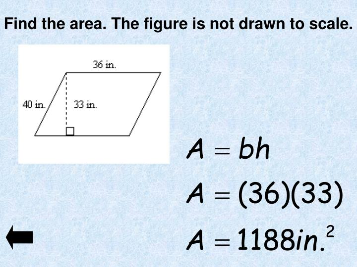 Find the area. The figure is not drawn to scale.