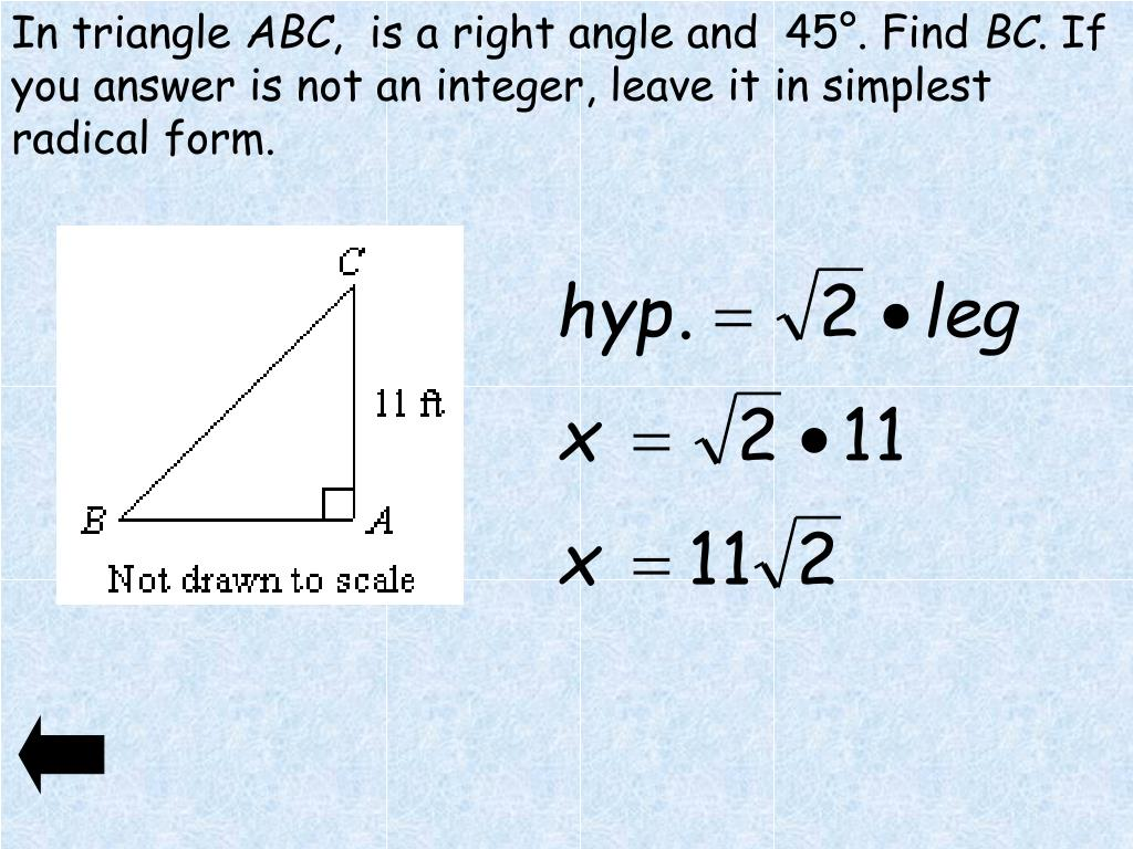 PPT - Special Right Triangles and Area PowerPoint Presentation ...