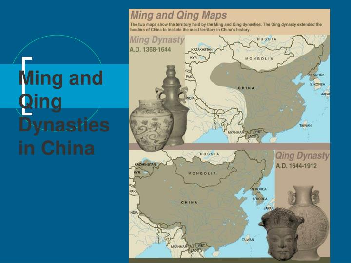 ming and qing dynasties in china n.