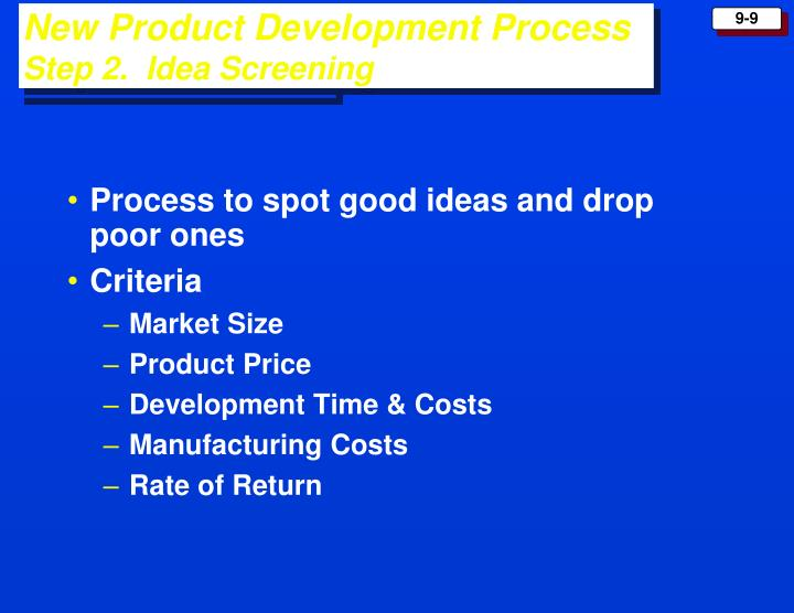 Process to spot good ideas and drop poor ones