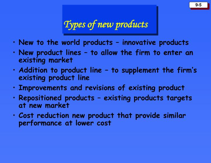 New to the world products – innovative products