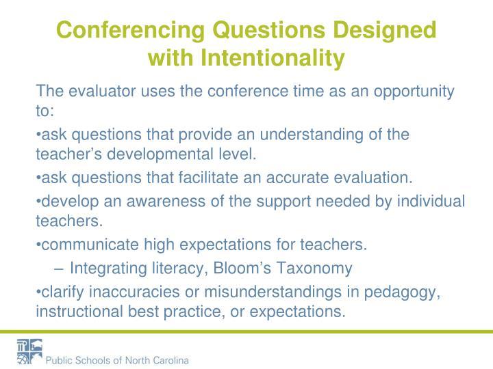 Conferencing Questions